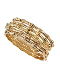 Rj Graziano R.J. Graziano Bamboo Multi Bangle Set Golden
