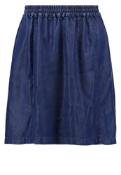 Native Youth Abstraction Mini Skirt Indigo Blue