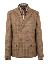 Gibson Marlow Double Breasted Check Jacket Green