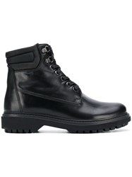 Geox Ankle Lace Up Boots Black