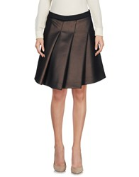 Le Ragazze Di St. Barth Knee Length Skirts Dark Brown
