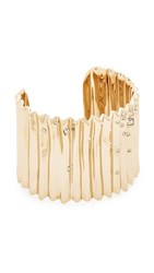 Alexis Bittar Pleated Cuff Bracelet Gold