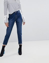 Missguided Riot High Rise Mom Jeans Blue