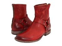 Frye Phillip Harness Burnt Red Soft Vintage Leather Women's Pull On Boots