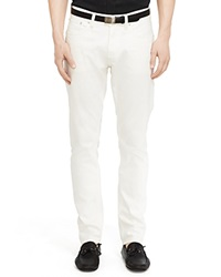 Ralph Lauren Black Label Jeans Baxter Slim Fit In Cream