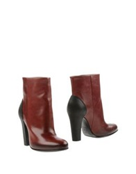 Vic Matie Vic Matie' Ankle Boots Maroon