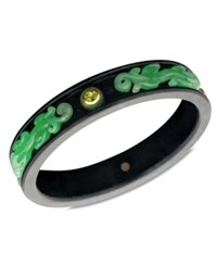 Macy's 14K Gold Bracelet Jade 5Mm Onyx 16 17Mm And Peridot 2 1 4 Ct. T.W. Bangle