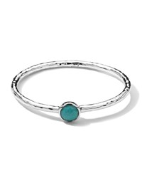 Sterling Silver Rock Candy Hinge Bangle In Turquoise Ippolita