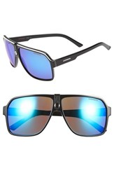 Men's Carrera Eyewear 62Mm Aviator Sunglasses Black Grey Blue