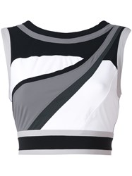 No Ka' Oi Sports Crop Top Women Polyamide Spandex Elastane L White