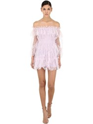 Alice Mccall Only Hope One Shoulder Mini Dress Lilac