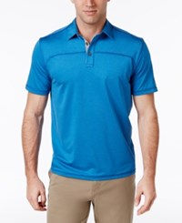 G.H. Bass And Co. Men's Performance Polo Blue Skydiver Heather