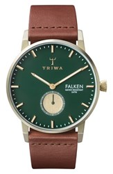 Triwa Pine Falken Organic Leather Strap Watch 38Mm