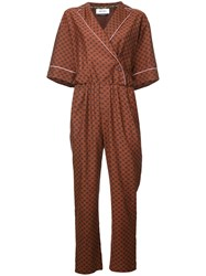 Muveil Belted Jumpsuit Brown