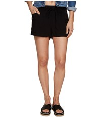 Bb Dakota Mosby Rayon Twill Cargo Shorts Black Women's Shorts