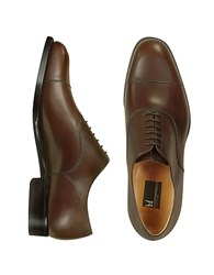 Moreschi Londra Dark Brown Calfskin Cap Toe Oxford Shoes