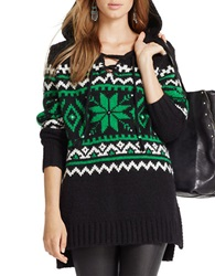 Polo Ralph Lauren Wool Alpaca Fairisle Sweater Green Multi