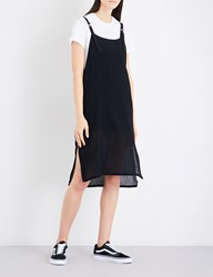 5Cm Overlay Cotton Jersey And Woven Dress Bkx