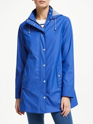 John Lewis Collection Weekend By Hooded Raincoat Ultramarine Blue