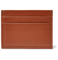 Shinola Leather Cardholder Tan