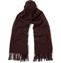 Acne Studios Canada Virgin Wool Scarf Red