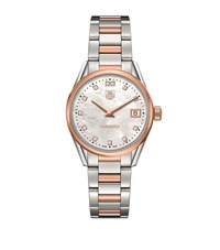 Tag Heuer Carrera Mother Of Pearl 32Mm Watch Unisex Ivory