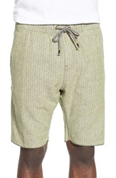 Men's Howe 'Vista' Stripe Linen And Cotton Chambray Shorts