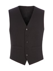 Pierre Cardin Men's Philip Black Twill Performance Vest Black