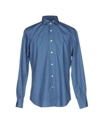 Mazzarelli Shirts Blue
