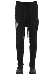 11 By Boris Bidjan Saberi Printed And Patched Cotton Jogging Pants