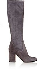 Gianvito Rossi Women's Stivale Knee High Boots Red Purple Dark Grey