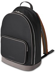 Burberry Heritage Stripe Detail Nylon Backpack Black