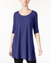 Eileen Fisher Jersey Scoop Neck Tunic A Macy's Exclusive Sapphire