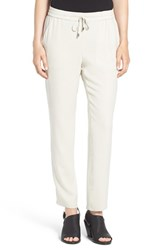 Eileen Fisher Women's Silk Crepe Ankle Pants Bone