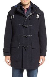 Cole Haan Men's Boiled Wool Blend Toggle Duffle Coat