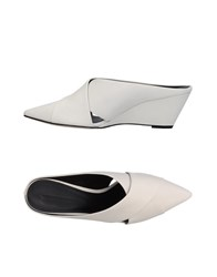 Sigerson Morrison Mules White