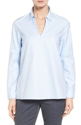 Nordstrom Women's Collection Popover Oxford High Low Shirt