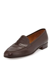 Gravati Calf Leather Penny Loafer Dark Brown Size 37.5B 7.5B