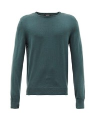 A.P.C. Crew Neck Merino Wool Sweater Green
