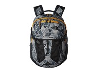 The North Face Recon Trickonometry Print Radiant Yellow Backpack Bags Gray