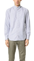 Gitman Brothers Vintage Striped Oxford Shirt Grey