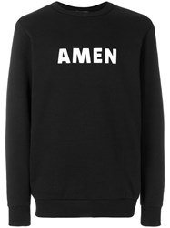 Amen Logoed Jumper Black