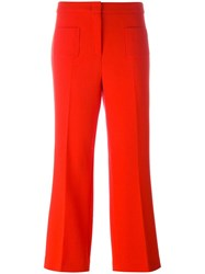 L'autre Chose Cropped Trousers Red