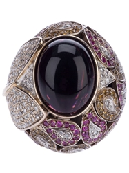Athena Pink Sapphire And Diamond Robeline Ball Ring Pink And Purple