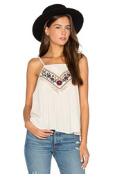 Band Of Gypsies Romantic Floral Cami Beige