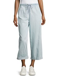 French Connection Salt Water Drawstring Pants Blue