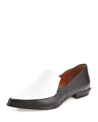 Derek Lam 10 Crosby Agatha Contrast Leather And Canvas Loafer