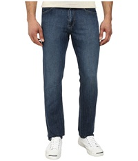 Agave Denim Pragmatist Pasta Point Cotton Linen In Medium Indigo Medium Indigo Men's Jeans Navy