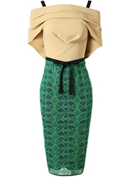 Roland Mouret Avalon' Embroidered Stretch Cotton Dress Browns Farfetch.Com
