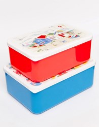 Cath Kidston Set Of 2 Daisy Lunch Boxes White